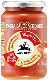 NT# Alce Nero Organic Pasta Sauce - Vegetables 350g -Our sauce is easy to use, just heat it up and pour on your pasta for an instant and delicious Italian meal.