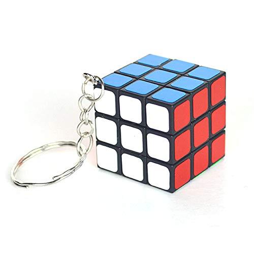 Zonfer 1pc 3x3 Mini Cubo Llavero Cubo Colgante Smooth Niños Rompecabezas Regalo