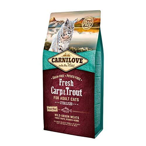 Carnilove Trockenfutter für Katzen, für Karpfen und Forellen, 6 kg