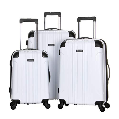 Kenneth Cole Reaction Out of Bounds 3-Piece Lightweight Hardside 4-Wheel Spinner Luggage Set: 20' Carry-On, 24', 28', White