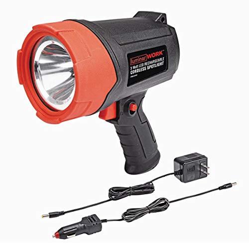 Luminar Work 3 Watt LED Rechargeable Cordless Spotlight