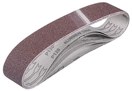 kwb by Einhell 5 Schleifbänder 50x686 mm Bandschleifer-Zubehör (5 Schleifbänder, 50 x 686 mm, passend für Einhell Stand-Bandschleifer TH-US 240 und TC-US 350, inkl. 2x K60, 2x K80 und 1x K120)