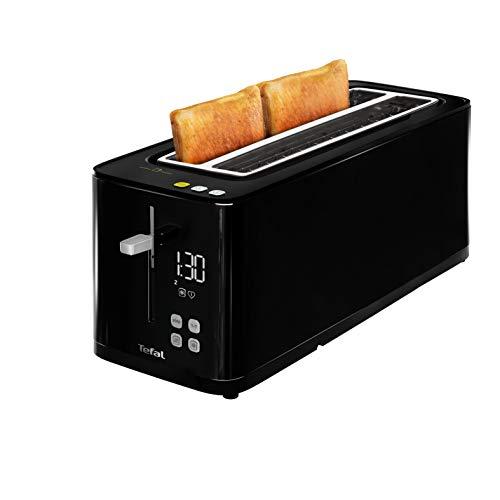 Tefal Smart'n Light TL6408 Tostadora, 2 ranuras largas, pantalla digital, temporizador digital, tostador 7 niveles de tostado, función Eco, ahorro energia, bandeja recogemigas, descongela