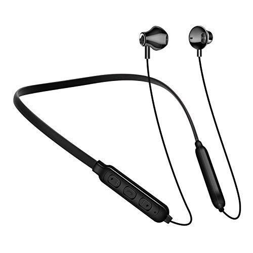 boxiangxu Auriculares Bluetooth deportivos para colgar el cuello binaural para correr estéreo para colgar el cuello
