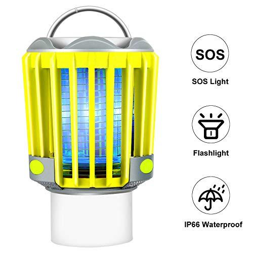 STHfficial 3 W Portable SOS Camping en Plein Air Lumière LED Lanterne Lampe Lampe De Poche Tente Lumière 2200mAh Batterie Rechargeable Mosquito Killer