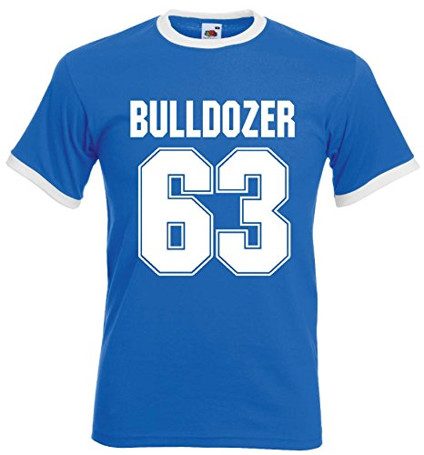 world-of-shirt Herren Retro T-Shirt Bulldozer 63 Buddy Movie Filmroyal-L