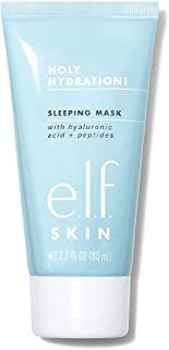 e.l.f. Holy Hydration! Sleep Mask, Ultra-Hydrating Dual-Use Face Mask, Replenishes & Nourishes Dry Skin for a Plumped Up C...