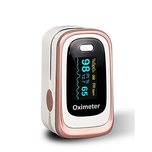 Pulsossimetro Dito Punta delle dita Saturazione di ossigeno nel sangue (SpO2), Frequenza del polso, Indice di perfusione ematica (PI) Monitor con display OLED omnidirezionale Include cordino