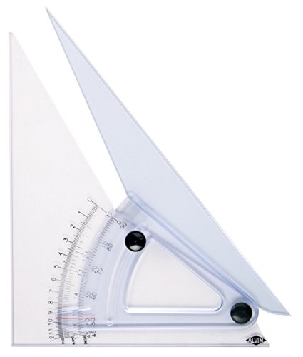 Alvin, Trig Scale Adjustable Triangle with Inking Edge, 12 Inches