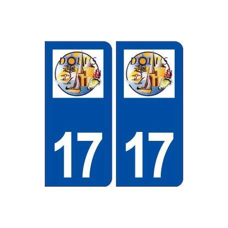 17 Dolus d'Oléron Aufkleber mit Stadt-Logo, selbstklebend, abgerundete Ecken