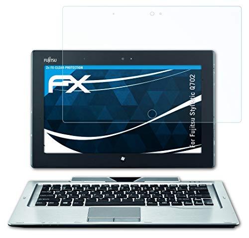 atFolix Schutzfolie kompatibel mit Fujitsu Stylistic Q702 Folie, ultraklare FX Bildschirmschutzfolie (2X)
