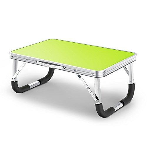 LVZAIXI Ordinateur Portable Table Table Bureau Pliable Étudiant Paresseux Dortoir Table Petit Bureau Étude Table Simple (Couleur : Vert)