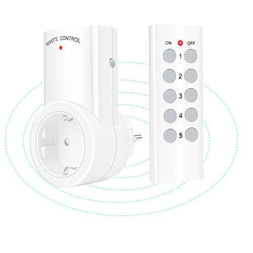 ILS - 433 MHz inalámbrico control Smart WiFi toma de corriente interruptor...
