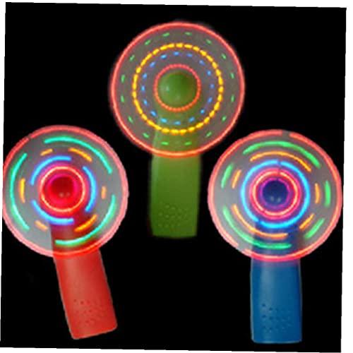 TOSSPER 3pcs Niños Mini Ventilador De Aire Portátil del Ventilador Fresco Diversión Plástico Light Up Luminoso Juega Regalo De Cumpleaños para Niños