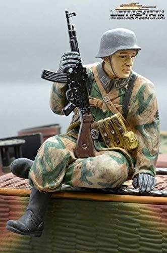 licmas Figur Soldat WW2 Splittertarn Deutscher Tank Rider STG 44 Schütze Wehrmacht handbemalt 1:16 Tank
