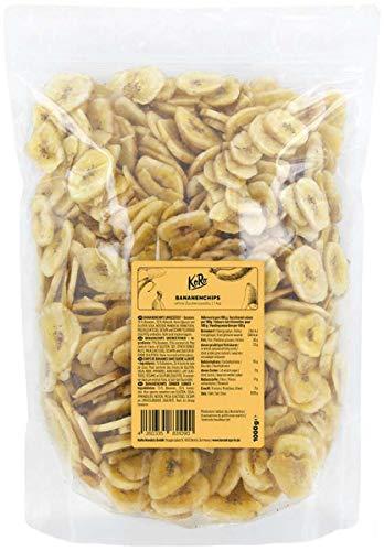 KoRo - Bananenchips 1 kg Vorteilspack - Ohne Zuckerzusatz Ungeschwefelt mit Kokosöl