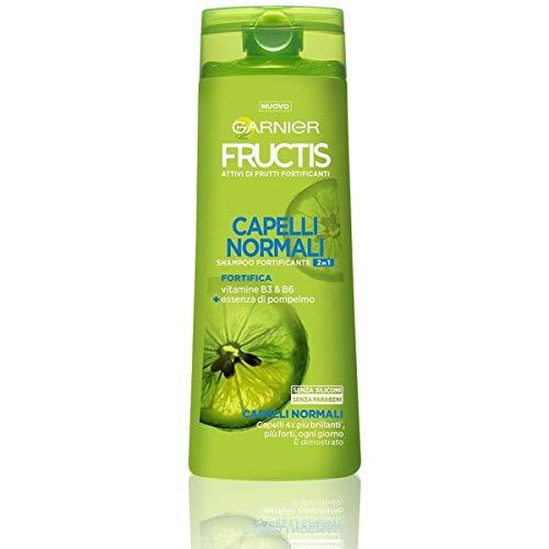 Garnier Multi Pack Shampoo Fructis Capelli Normali 2in1, Concentrato Attivo di Frutti, Capelli Forti e Brillanti, 250 ml, Confezione da 12