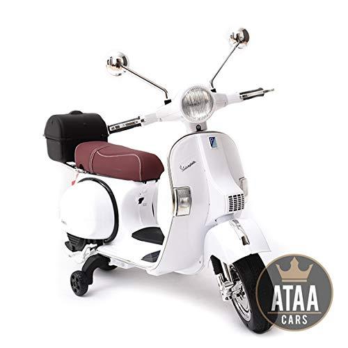 ATAA Vespa clásica Oficial 12v Licencia Piaggio - Blanco Moto eléctrica para...