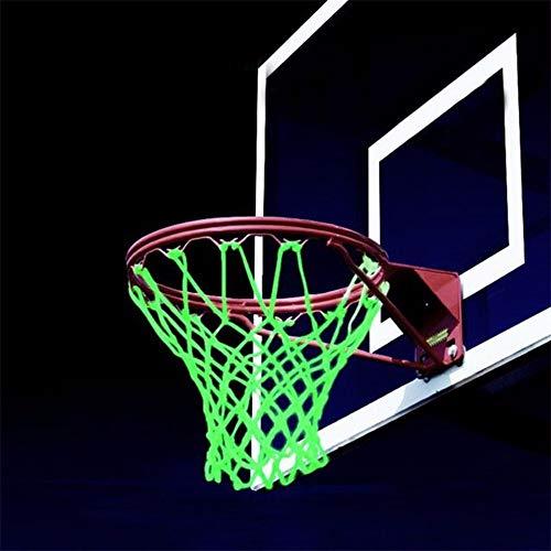SPLLEADER Basketball Nylon Standard Basketballkorb-Netz Glühendes Licht Schießtraining Grün Leuchtendes Basketball-Netz-Rückenbrett Rim Ball Mesh