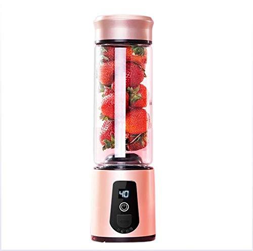 Elektrische citruspers, multifunctioneel, roerwerk met USB-poort en behuizing van roestvrij staal, oplaadbaar, 550 ml, capaciteit voor fruit, melk en plantaardige eiwitten