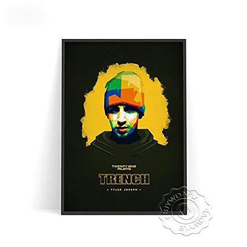 xmydeshoop Rapper Roddy RIcch Poster, JID Alligatoah Poster, Sido Kunstdrucke, The Weeknd Music Poster, The Kid Laroi Bar Pub Club Art Decor 40x60cm No Frame PE-1382