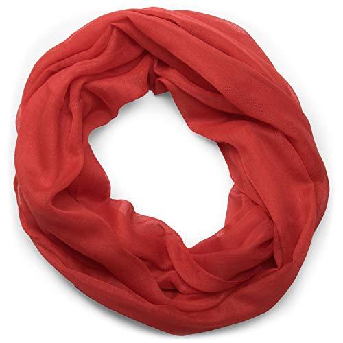 styleBREAKER sciarpa scaldacollo a tinta unita, morbida e leggera, unisex 01016069, colore:Rosso