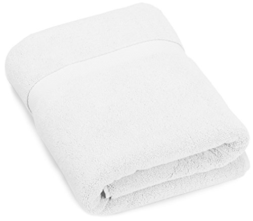 Pinzon Heavyweight Luxury Cotton Bath Towel - 56 x 30 Inch, White