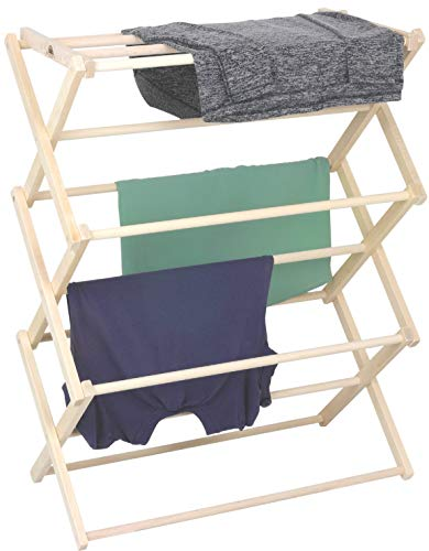 Pennsylvania Woodworks Clothes Drying Rack: Solid Maple Hard Wood Laundry Rack for Sweaters Blouses Lingerie amp More Durable Folding Drying Rack Made in USA No Assembly Needed