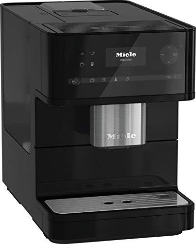 Miele CM6150 OBSW Kaffeevollautomat (OneTouch- und OneTouch for zwei-Zubereitung, vier Genießerprofile, automatische Spülprogramme, Edelstahl-Kegelmahlwerk) obsidianschwarz