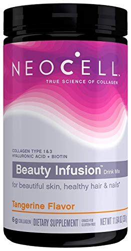 NeoCell Beauty Infusion Collagen Supplement Drink Mix Powder  6,000mg Collagen Types 1 & 3  Tangerine Flavored 11.64 Ounces (Package May Vary)