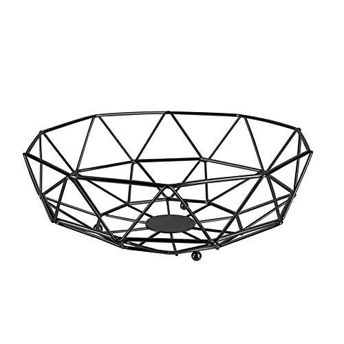 THE HOME DECO FACTORY KA2478 Corbeille Filaire Forme Geometrique Metal Noire, Taille Unique