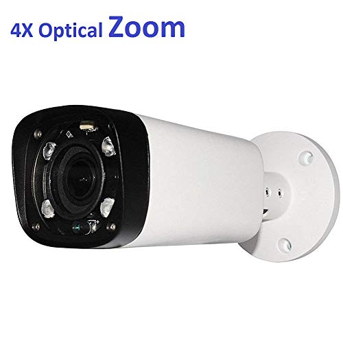4MP Outdoor Bullet POE IP Camera, IPC-HFW4431R-Z, 2.7-12mm Motorized Varifocal Lens 4X Optical Zoom, Security Network CCTV Camera, 262ft IR Night Vision, Smart H.265, WDR DNR, IP67
