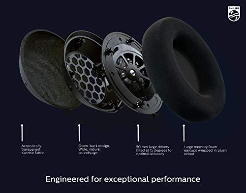 Philips Fidelio X3/00 Over Ear Kopfhörer Offen mit Kabel 3-m abnehmbar (Offenes Design, 50-mm-Akustik-Treiber, High Resolution Audio, Breiter Raumklang) - 2020/2021 Modell