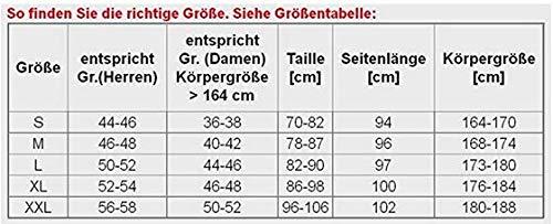 Stanteks Radhose Lang Fahrradhose Radlerhose ohne Träger Coolmax Sitzpolster Reflektoren SR0045, Schwarz, S (44/46) - 6