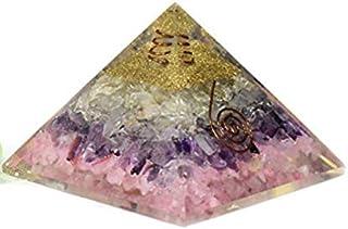 Pirámide de orgonita generador de energía de cuarzo rosa