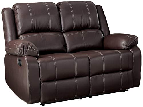 ACME Zuriel Brown Faux Leather Reclining Loveseat