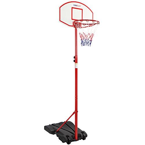 Infantastic® Basketballständer mit Rollen - höhenverstellbar 113 bis 236 cm, für drinnen und draußen - Basketballkorb mit Ständer, Basketballanlage, Hoop Stand für Kinder