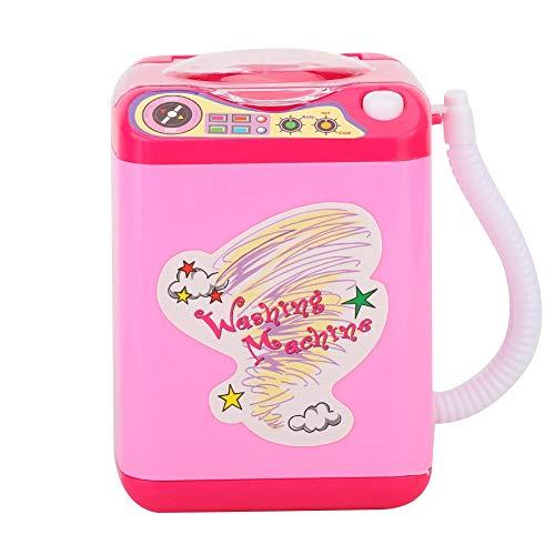 Lavadora de brochas de maquillaje, herramienta de maquillaje de limpieza de belleza Mini limpiador de brochas de maquillaje eléctrico, para limpiar brochas de maquillaje para(Pink)