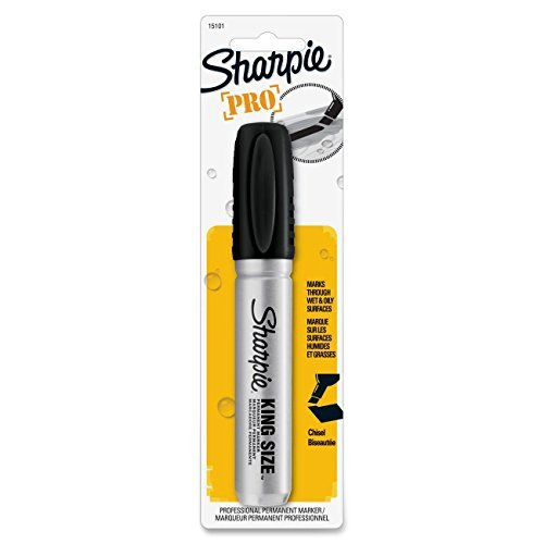 6 X Sanford King Size Permanent Marker with Chisel Point, Black (SAN15101) Category: Permanent...