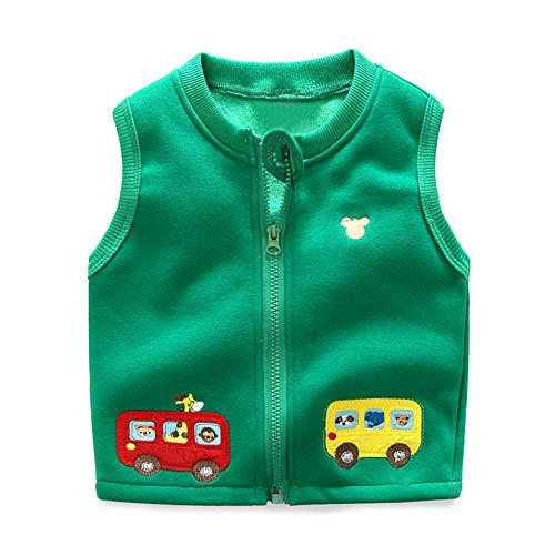 Modder Koninkrijk kleine jongens Vest Fleece gevoerde schattige auto