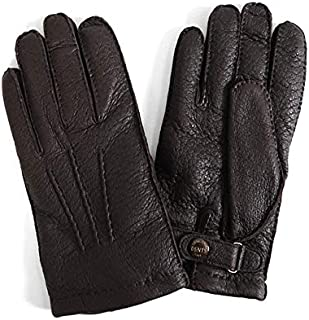 [デンツ] カシミアライナー レザーグローブ 手袋 15-1564 Johnstons ジョンストンズ ペッカリーレザー ギフト (メンズ) [並行輸入品]
