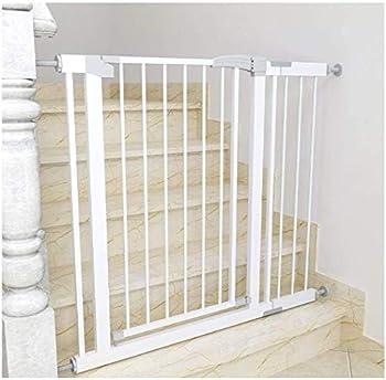 Mirui Sécurité Pression Fit Porte en métal Supports 80cm de Haut La Largeur Peut être sélectionnée de 75 à 180cm Porte bébé Pet Porte avec Les Extensions Disponibles