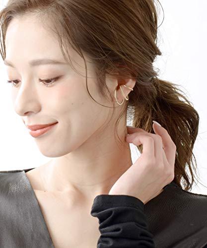 [ヴァンテーヌ]VINGTAINE【片耳販売】3連リングイヤーカフ片耳イヤーフックカジュアル大ぶりイヤリングE2099-B