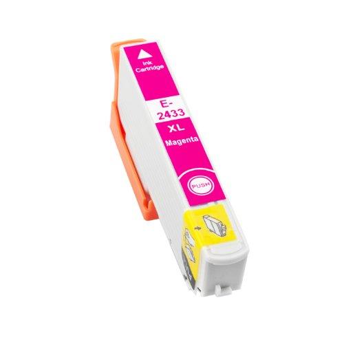 TONERPACK T2433/T2423 (24XL) Magenta Cartucho de Tinta Generico - Reemplaza C13T24334012/C13T24234012 para Epson