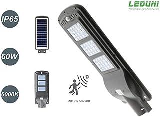 Farola Solar de LED para Alumbrado Público 60W con Sensor