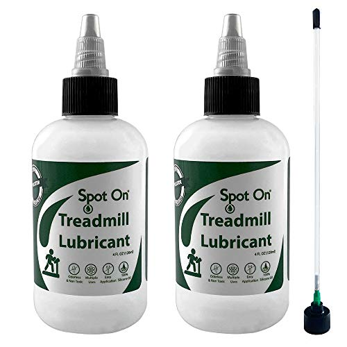 Spot On 100% Silicone Treadmill Lubricant - Made in The USA - 2 Pack with Application Tube