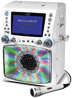 Singing Machine STVG785W Karaoke Machine with Disco Lights