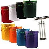 CASOLLY 5 Gallon 8 Bags 600D Bubble Hash Bag Herb Extractor Ice Bags W/Pollen Press