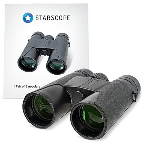 Starscope Prismáticos compactos, ligeros - Catalejos de gran alcance para caza - Prismáticos pequeños para observar aves | Binoculares potentes con zoom de hasta 10X, 1000M | Prismáticos profesionales