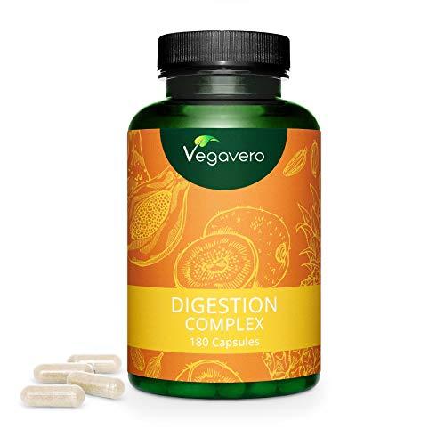 VERDAUUNGSENZYME Komplex Vegavero® | Papain, Bromelain & Actinidin | 180 Kapseln | Ohne Zusatzstoffe | Vegan